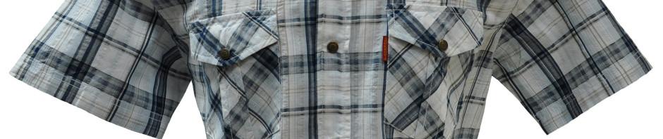 Рубашка в крупную серую клетку. Размер от 46-48 до 54-56 модель