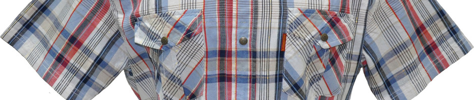 Оригинальная рубашка с коротким рукавом. Модель приталенная с двумя карманами с клапанами на кнопках.