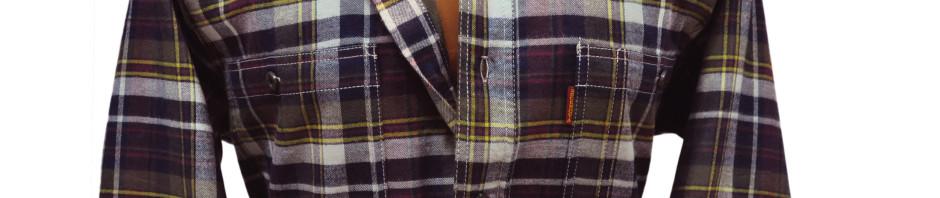 Теплая, фланелевая рубашка в серо-бело-бордовую клетку на хлопковой подкладке. Модель большого размера от 56-58 до 62-64, свободного кроя с двумя большими
