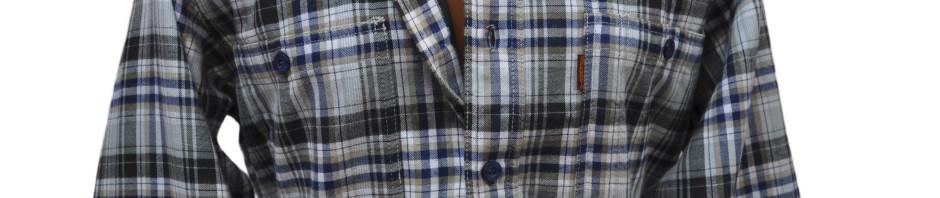 Мужская теплая, фланелевая рубашка в серо-белую клетку
