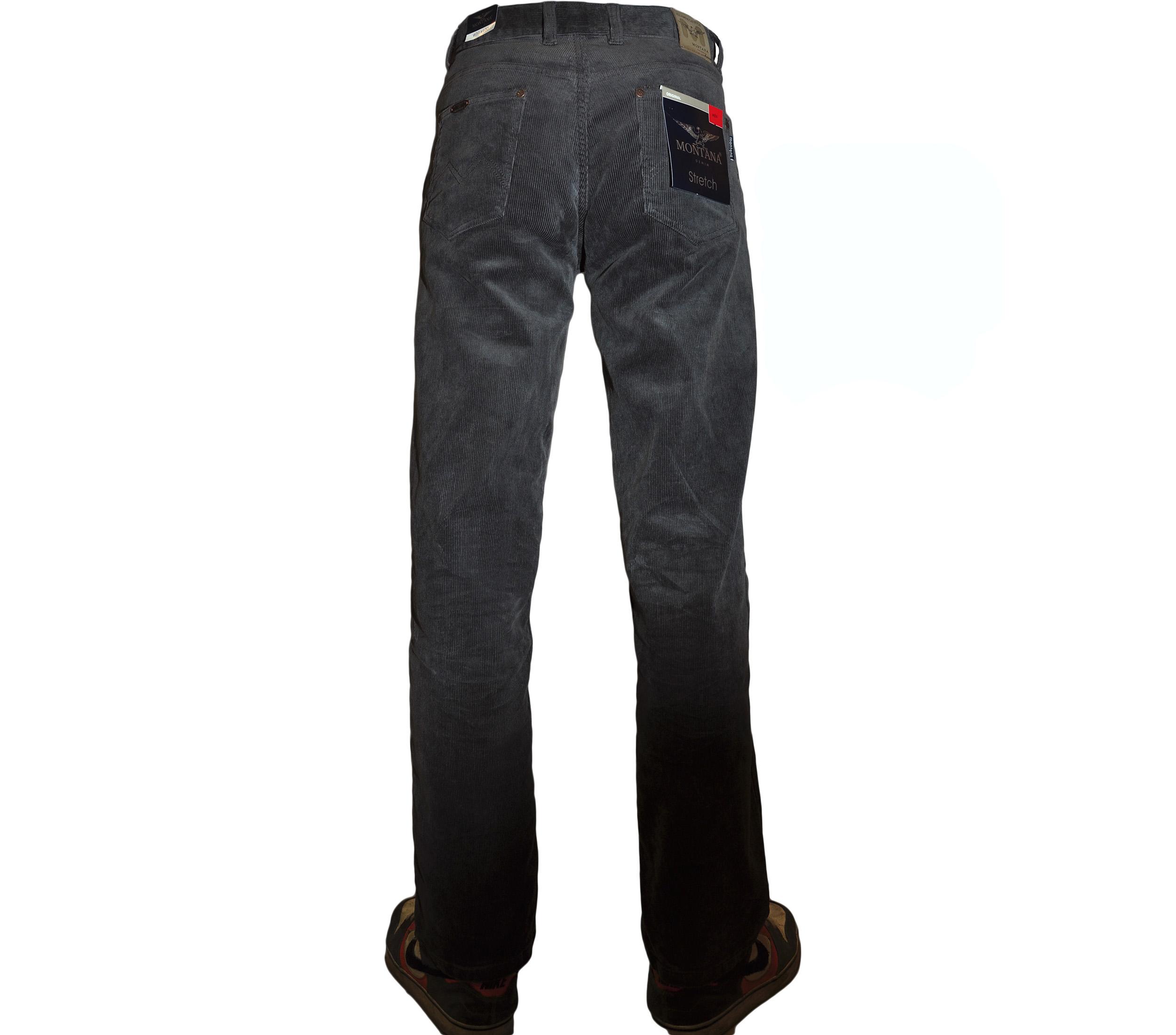 Джинсы вельветовые серого цвета, классическая модель 842,