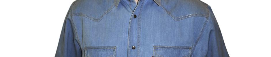 Рубашка с коротким рукавом синего цвета . Модель очень большого