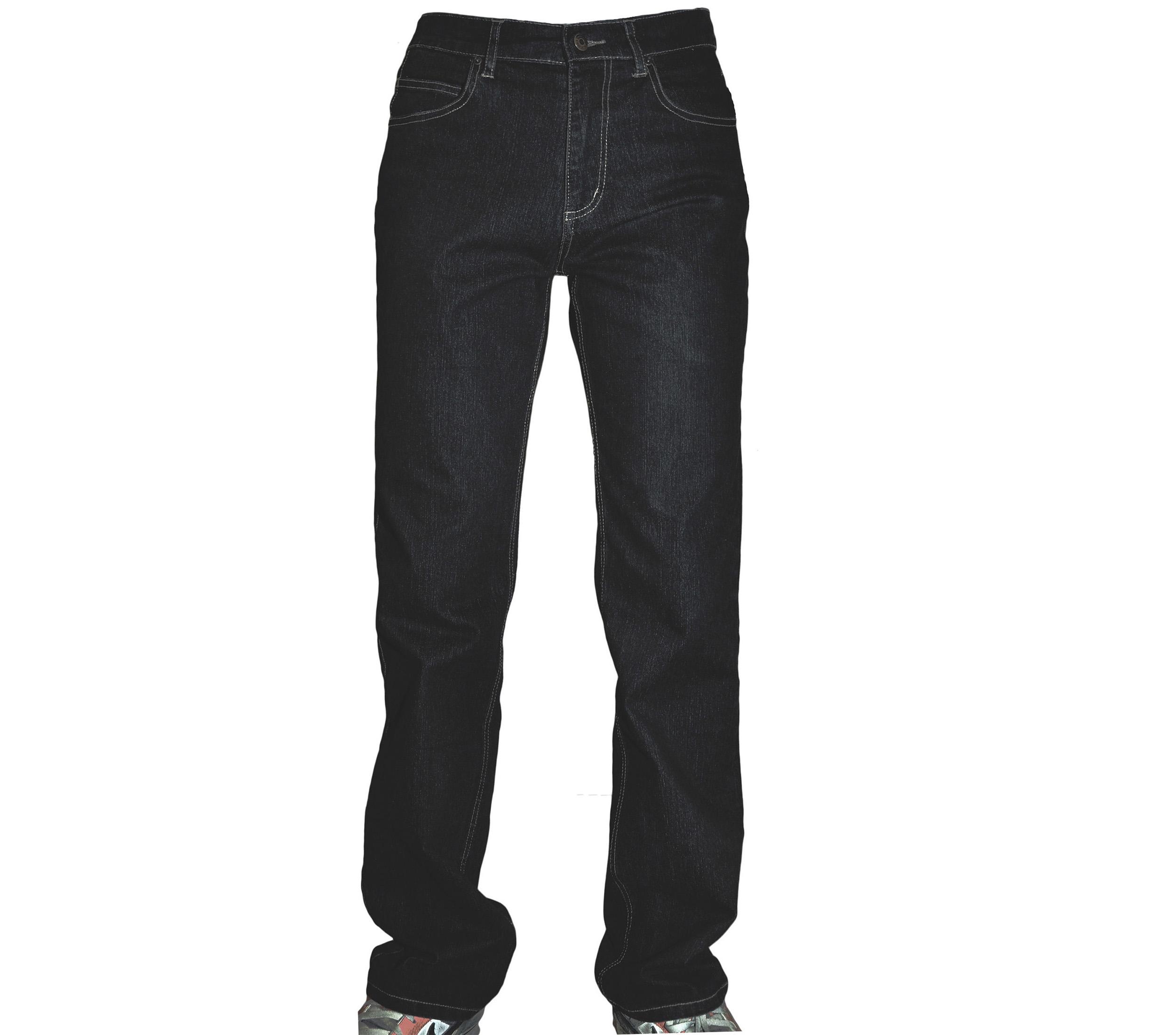 Джинсы черного цвета с добавкой полиэстера. Модельдж-803-черные