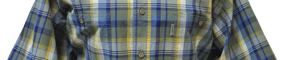 Рубашка с коротким рукавом клетка хакки в которой присутствуют синяя