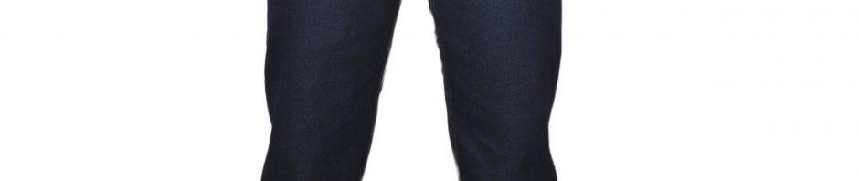 Мужские джинсы темно-синего цвета из тонкого материала
