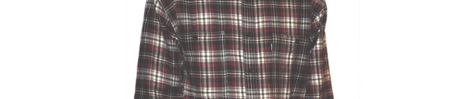 Мужская джинсовая фланелевая рубашка на подкладке из хлопка