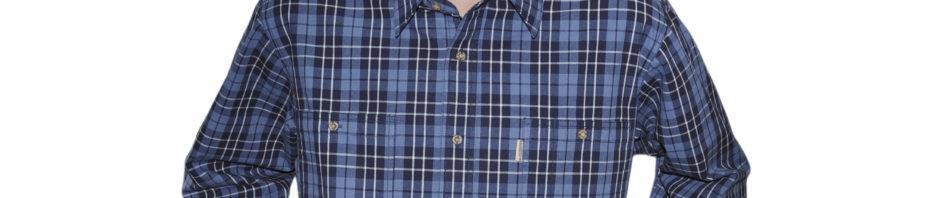 рубашка джинсовая синяя клетка на черном фоне
