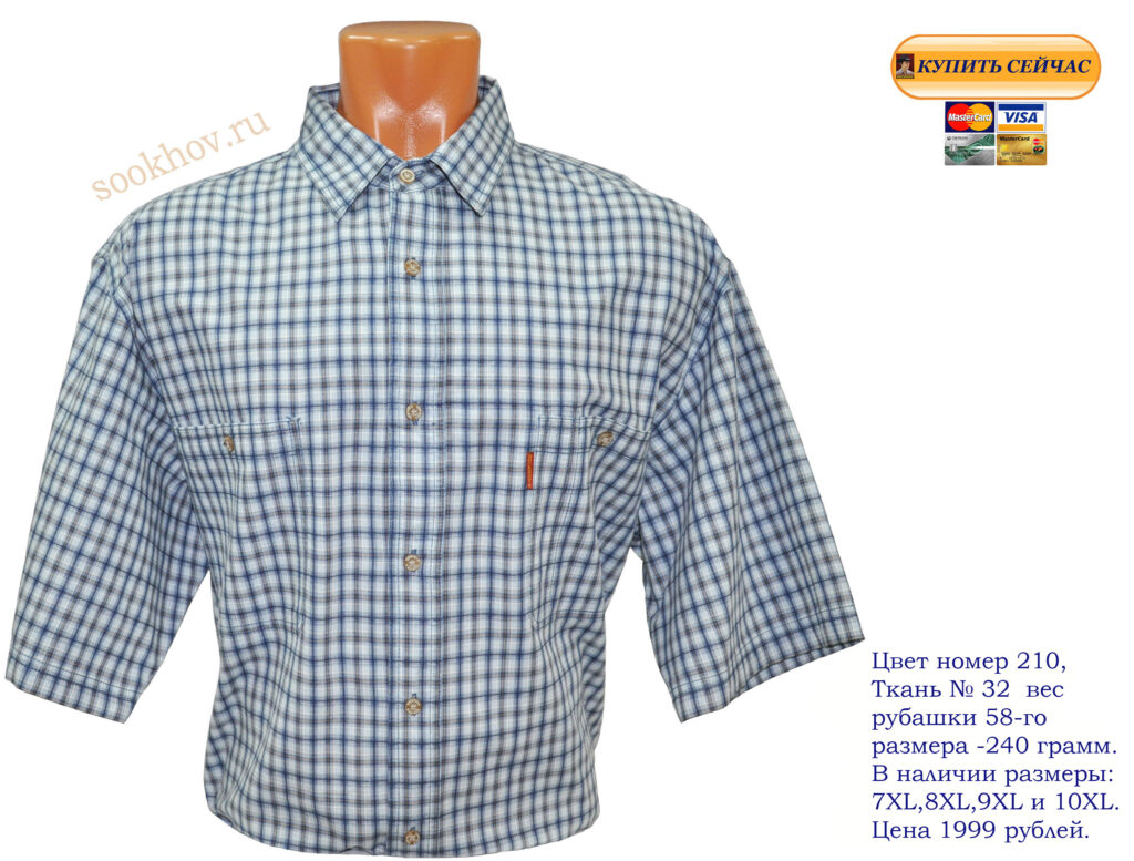 Мужские-сорочки-с-66(7XL)-размера-купить-Москве-недорого-отличного-качества,хлопок-большой-выбор-клетки,полоски,однотонные. Рубашки-мужские-свободного-покроя. Фото.
